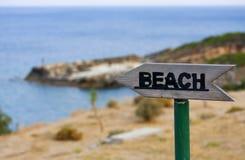 Plaża Tutaj! Fotografia Royalty Free