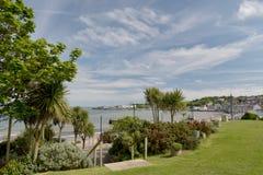 Plaża uprawia ogródek przy Swanage Zdjęcia Royalty Free