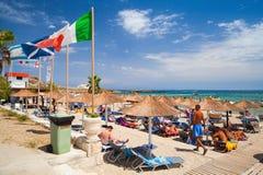 Plaża Vassilikos, Zakynthos, Grecja Obrazy Royalty Free