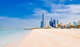 Plaża w Abu Dhabi, UAE Zdjęcia Stock