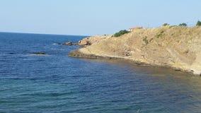 Plaża w Ahtopol i zmierzchu Zdjęcie Royalty Free