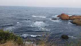 Plaża w Ahtopol i zmierzchu Obraz Royalty Free