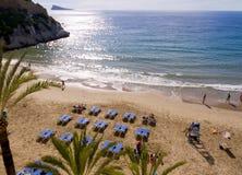 Plaża w Benidorm Hiszpania Zdjęcia Royalty Free
