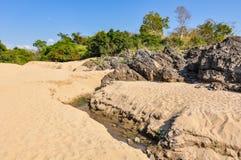 Plaża w Don Kone, 4000 wysp, Laos Obraz Royalty Free