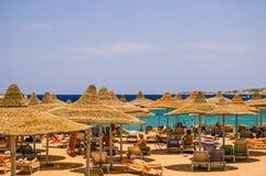 Plaża w Egipt, Afryka Fotografia Stock