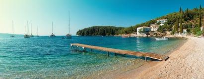 Plaża w Kalami, Corfu Obrazy Stock
