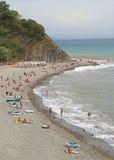 Plaża w khutor Betta, Krasnodar krai zdjęcia stock