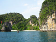 Plaża w Krabi, Tajlandia. Obraz Royalty Free