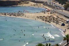 Plaża w Monastir, Tunezja w Afryka Obraz Stock
