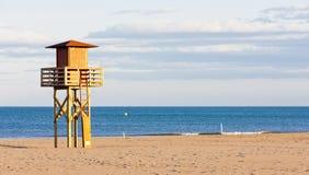 Plaża w Narbonne Plage Fotografia Stock