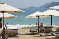 Plaża w Nha Trang fotografia stock