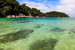 Plaża w Pah Zawietrznej wyspie Fotografia Stock