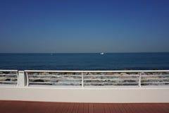 Plaża w palmowej wyspie Dubai Obrazy Stock