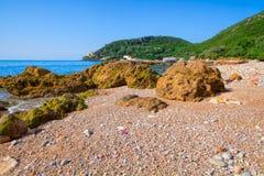 Plaża w Parque Naturalny da Arrabida Fotografia Stock
