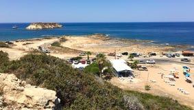 Plaża w Pegeia Obraz Royalty Free