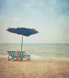 Plaża w retro stylu Zdjęcie Royalty Free