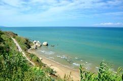 Plaża w Rodi Garganico Zdjęcia Stock