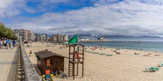 Plaża w Sanxenxo, Galicia Hiszpania Fotografia Stock
