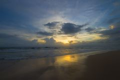Plaża w Sri Lanka Obrazy Stock