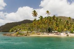 Plaża w St Lucia Obrazy Royalty Free