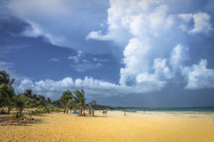 Plaża w Tulum Obrazy Stock