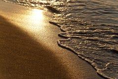 Plaża w wieczór Zdjęcia Stock
