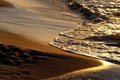 Plaża w wieczór Zdjęcie Royalty Free