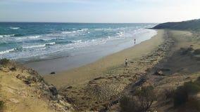 Pla?a w zimie w Fuerteventura zdjęcia stock