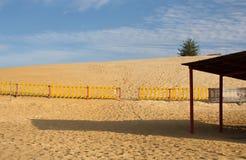 plaży piaskowaty pusty Zdjęcia Royalty Free