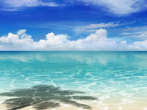 Plaża z cieniem Obrazy Royalty Free