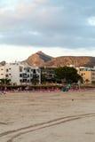 Plaża z czasem w Alcudia Obraz Royalty Free