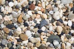 Plaża z makro- otoczakami Zdjęcie Stock