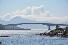 Plaża z mostem Fotografia Royalty Free