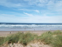 Plaża z piasek diunami Zdjęcia Royalty Free