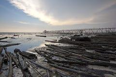 plaża zanieczyszcza obrazy stock