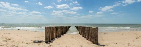 Plaża, Zeeland Obrazy Royalty Free