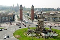Plaça Espanya, Fira, MNAC or National Palace Royalty Free Stock Photos