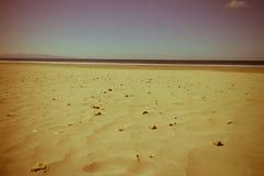 plaża od wybrzeże pacyfiku rocznika stylu Obraz Royalty Free