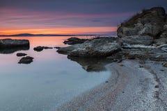 Plaża przy Czarnym Dennym wybrzeżem Zdjęcia Royalty Free