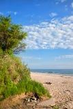 Plaża przy morzem bałtyckim w Wladyslawowo Obrazy Stock