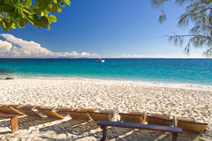 plaża relaksuje Fotografia Stock