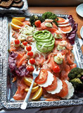Plaat in een koud buffet Stock Foto
