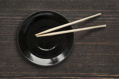Plaat en eetstokjes Royalty-vrije Stock Fotografie