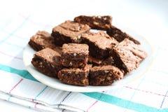 Plaat met cacao brownies Royalty-vrije Stock Fotografie
