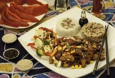 Plaat met Chinees voedsel Royalty-vrije Stock Afbeelding