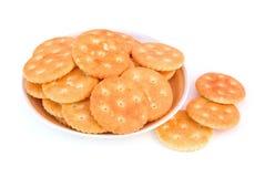 Plaat met cracker Royalty-vrije Stock Foto