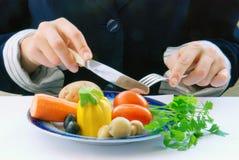 Plaat met groenten Royalty-vrije Stock Fotografie