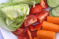 Plaat met groenten royalty-vrije stock foto