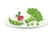 Plaat met groenten Vector Illustratie