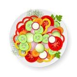 Plaat met groenten royalty-vrije illustratie